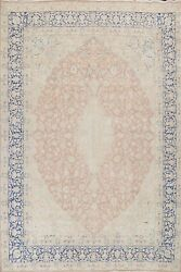 Antique Muted Floral Traditional Oriental Area Rug Hand-knotted Wool 10x13 Large