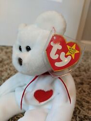 Ty Beanie Baby Valentino Bear With Pvc, Multiple Tag Errors, Brown Nose