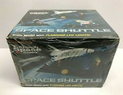 Kennedy Space Center Space Shuttle Scale Model With Flashing Led Lights New
