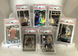 Lot Of 7 Lamelo Ball 1/1 - Black One-of-one Cards - All Graded Psa 7 8 9 10