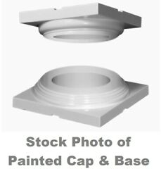 Turncraft Column Cap And Base Set Unpainted For 8andrdquo Colonial Round Wood Column