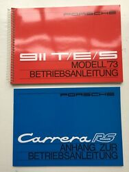 1973 Porsche Carrera Rs Drivers Manual And Rs Supplement - German