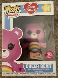 Funko Pop Care Bears Cheer Bear Flocked Box Lunch Exclusive