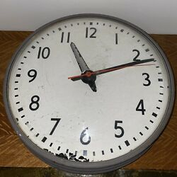 Vintage Simplex Type 5645 Wired Synchronous School Industrial Clock Untested