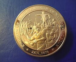 1878 Knights Of Labor - Franklin Mint Solid Bronze Commemorative Medal