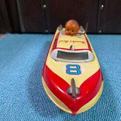 1960s Marusan Thunderbird Boat Tinplate Toys Made In Japan Size Length 28 Cm