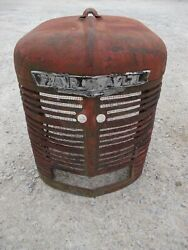 Farmall H Ih Tractor Nice Original Front Nose Cone Grill W/ Emblem