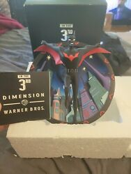 Batman Beyond 3-d Wall Warner Bros Store 1st 10 Printed Signed Will Friedle