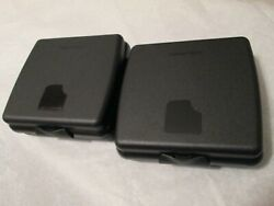 Black Tupperware Lunch Sandwich Holder Container Lot Of 2 Keeper