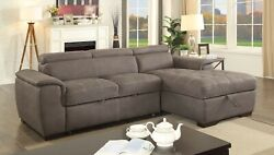 Sectional Sofa Chaise Ash Brown Living Room Furniture Couch Modern Sofa Fabric