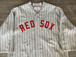 Authentic Mitchell And Ness Mandn 1918 Boston Red Sox Babe Ruth Jersey 48/xl Rare