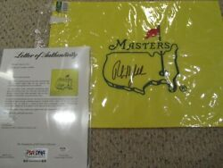 Phil Mickelson Auto Undated Masters Flag Nicklaus Golf Psa Dna Pga
