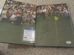 Phil Mickelson Auto 2004 Masters Annual Nicklaus Golf Psa Dna Pga Rare