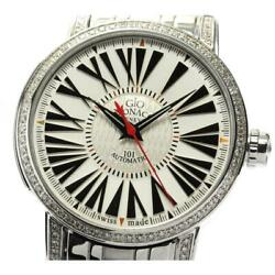 Geomonaco One O One After Diamond Bezel 101th Automatic Men's From Japan [e0524]