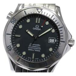 Omega Seamaster 300 Date 2251.80 Automatic Boys Ss Navy Dial From Japan [e0524]