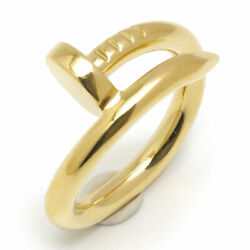 Auth Ring Juste Un Clou Eu50 Us5 1/4 K18 Yg Yellow Gold 750 F/s