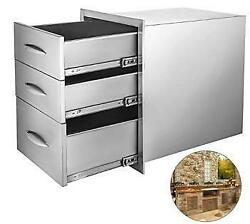 Stainless Steel Bbq Double Single Door Drawer Access Outdoor Kitchen Silver