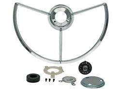 New 1962-63 Fairlane 500 Horn Ring Kit Emblem Contact Insulator Retainer Ford