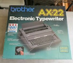 Brand New Sealed In Retail Box Brother Ax-22 Portable Electronic Typewriter
