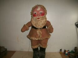 1930's Vintage 22 Inch Paper-mache Composition Doll Santa Claus A Store Display
