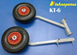 Kt6 Transom Launching Wheels For Inflatable Motor Boats Dinghy