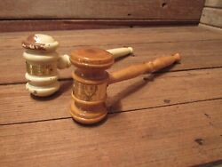 Vintage Wood Gavels Auction Law Judge Lawyer Legal Office Other