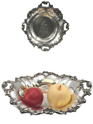 Pair Of Wallace Sterling Silver Centerpieces Bowls Possibly In Grande Baroque Pa