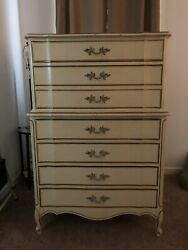Dixie White 7 Drawer Chest Of Drawers Dresser Local Pickup Vintage Antique