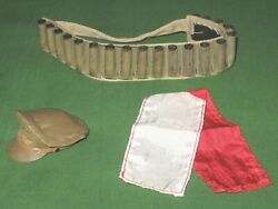 12 Crusher Cap, Scarf And Flare Lot 1/6 German Paratrooper Wwii Ultimate Soldier