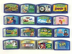 Lot Of 16 Leap Frog Leapster And L-max Game Cartridges...sonic X Nascar Nemo Up