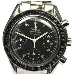 Omega Speedmaster Chronograph 3510.50 Automatic Menand039s Black Dial Ss [e0525]