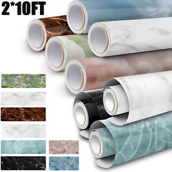 210 Ft Marble Contact Wall Stickers Self Adhesive Waterproof Oilproof Wallpaper
