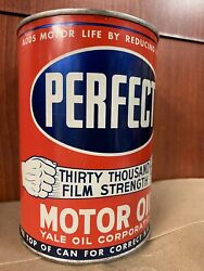 Rare Perfect 1 Qt Motor Oil Can Yale Oil Corporation Billings Montana