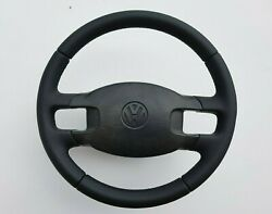 Vw T4 Transporter Caravelle Steering Wheel With Front Cover ⭐⭐ New Leather ⭐⭐