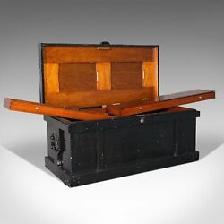 Large Antique Master Cabinet Makerand039s Chest Craftsmanand039s Tool Trunk Edwardian
