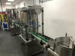4-head Piston Filler With Capper, Neck Bander And Steam Tunnel-82766