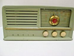 1950 Arvin Green 460t Rare Model Am Tube Radio Excellent Completely Refurbished