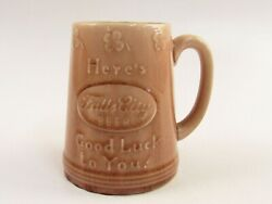 Rookwood Pottery 1948 Falls City Beer Hereand039s Good Luck To You Stein D369