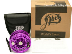 Abel Big Game 1 Fly Fishing Reel With Box Large Arbor Type Purple D3.225inch