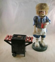 Zim's Heirloom Collectibles Large Bbq Grill Smoker Wooden Nutcracker Rare