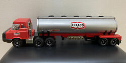 Vintage '70s Plastic Steel Texaco Gas Oil Tanker Toy Truck By Republic Tools Usa