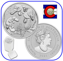 2021 Platypus And Baby Australia 2 Oz Silver - Roll/tube 10 Coins-next Generation