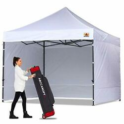 Classic Ez Pop Up Canopy Tent With Sidewalls Market And Patio 10x10 White