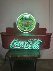 Large Original Coca Cola Neon Wall Hanging Sign Made By J V Reed Co. Louisville