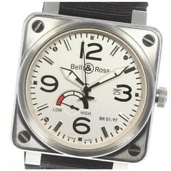 Bell And Ross Reserved Marche Date Power Reserve Br01-97w-ca Auto Menand039s [e0526]