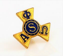Vintage Fraternity Sorority Alpha Phi Omega S Small Dainty Gold Filled Lapel Pin