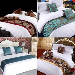 Bed Runner Scarf Dining Table Mats Pillow Case Hotel Wedding Party Home Decor