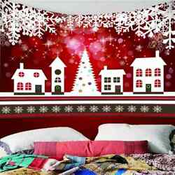 Christmas Snowflakes 3d Wall Hang Cloth Tapestry Fabric Decorations Decor