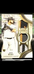 2021 Topps Tier One Joey Bart Triple Patch Relic Card 1/1 Giants 🔥🔥🔥