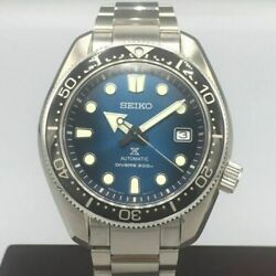 Seiko Prospex Divers Date Blue Automatic Mens Watch Authentic Working